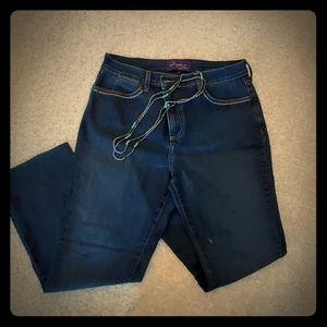 NYDJ Jeans with Rhinestone Edging
